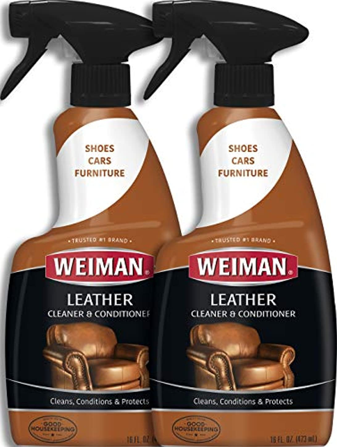 まさにフロントプラスWeiman Leather Cleaner & Conditioner (16 fl oz – 2パック)