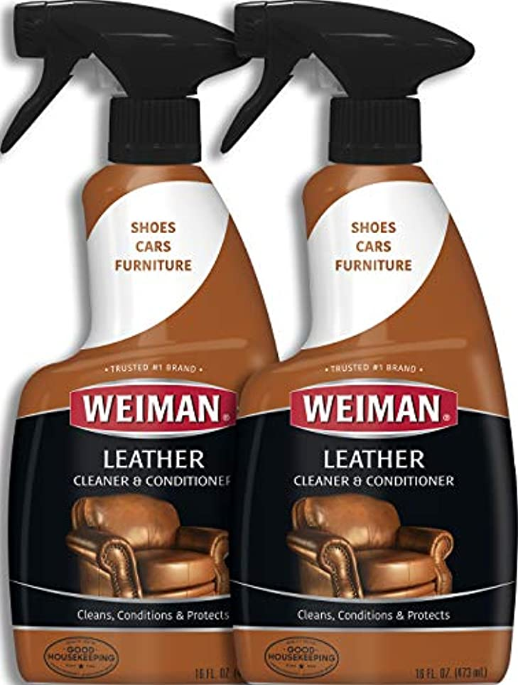 逸話おびえた氏Weiman Leather Cleaner & Conditioner (16 fl oz – 2パック)