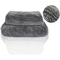 【洗車タオル】車用 拭き取り マイクロファイバー クロス 吸水 速乾 塗装 コーティング ガラス拭き 毛足長い ファイバータオル