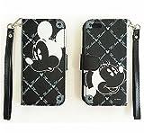 【 全6種類 】 iPhone6 専用 ディズニー / スヌーピー 手帳型 ケース カード収納ポケット×3 / ミニタオル との2点セット