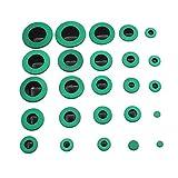 【ノーブランド品】アルトサックス用 交換用 パッド サックスパッド レザーパッド 修理 管楽器  25個 (グリーン)