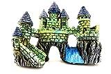 【Bright Future】水槽を彩るオブジェ 古代 建造物 遺跡 アクアリウム オーナメント 水槽 テラリウム 熱帯魚 水草 (古代の城)