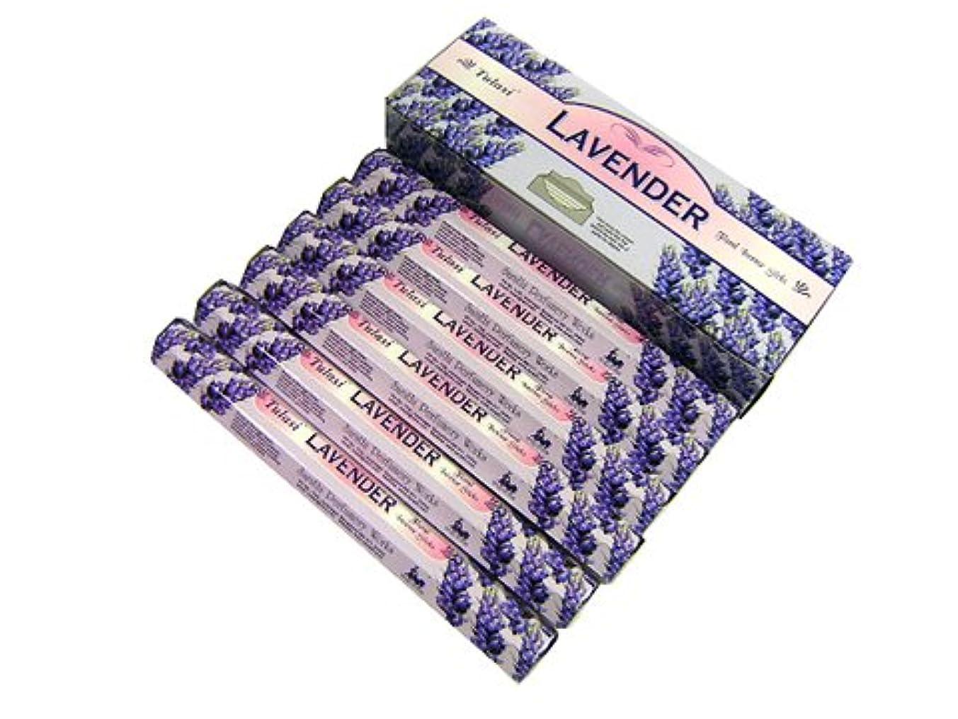 みすぼらしい喉が渇いた贈り物TULASI(トゥラシ) ラベンダー香 スティック LAVENDER 6箱セット