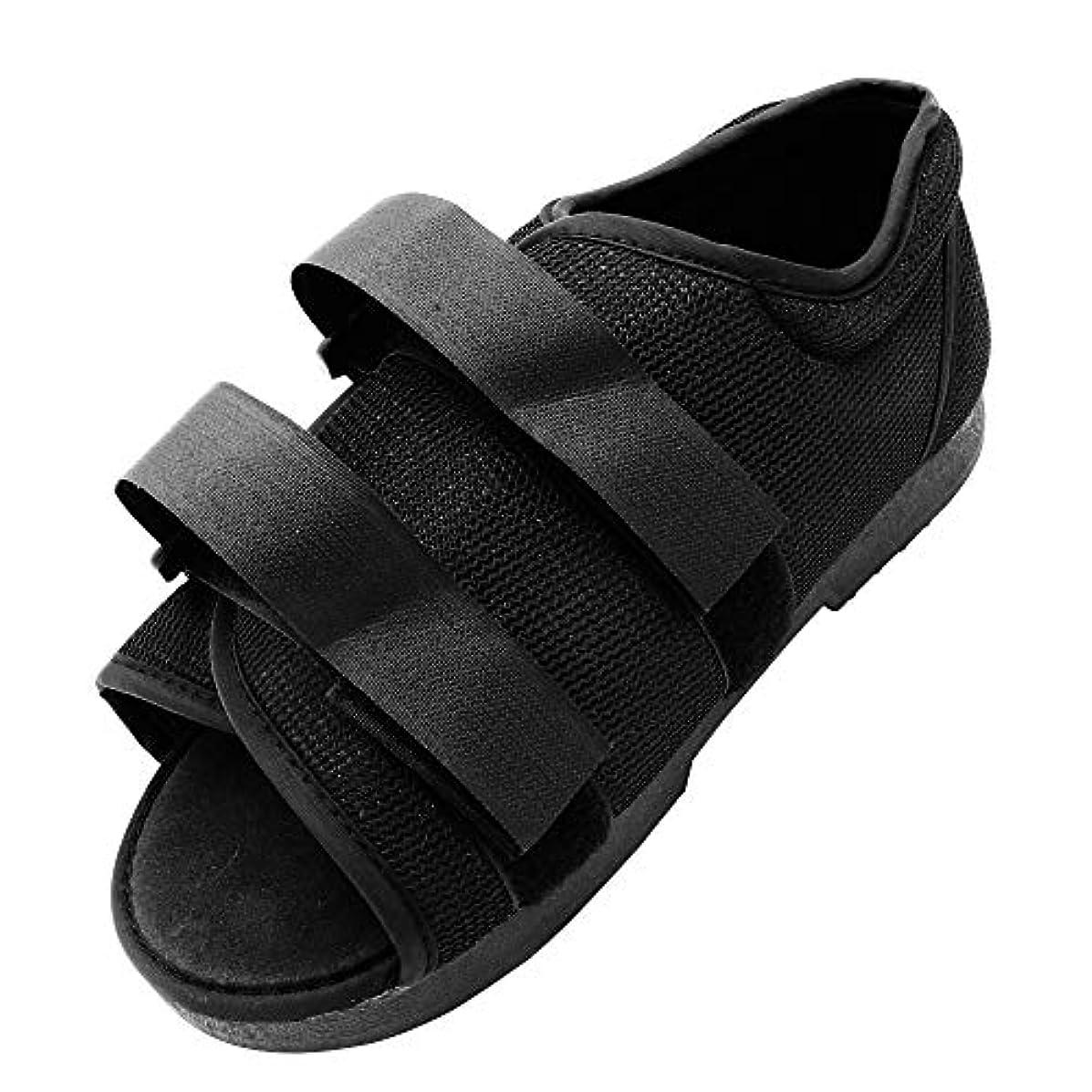 かなり表向き低下Koars ギプス用 骨折用 怪我用 ギプスシューズ 歩行サポート 左右兼用 片足 サイズ調整可 サンダル ギプス靴