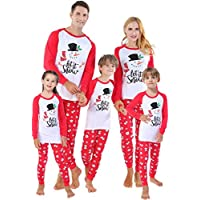 shelry Girls Pajamas for Christmas Children Heart Clothes Toddler Kids Cartoon Sleepwear
