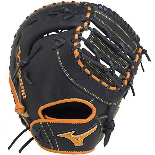 ミズノ(MIZUNO) ソフトボール用 エレメントフュージョンUMiX 捕手・一塁手兼用(コンパクトタイプ) 1AJCS18410 0951 ブラック/クリアオレンジ 右投用