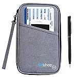 Wishap パスポートケース旅行札入れ多機能収納ポケット RFID スキミング防止 出張 ビジネスパスポートカバー カードケース 防水