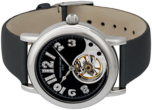 Limited Edition Frederique Constant Heart Beat Manual Wind Steel Womens Satin Strap Watch FC-910ABD3H6