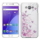 「Breeze-正規品」iPhone ・ スマホケース ポリカーボネイト [透明-Purple] ギャラクシー カバー GALAXY A8[SCV32]