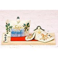 雛人形 コンパクト 人形師の手造り雛人形 豊大窯作 錦彩タタラ雛