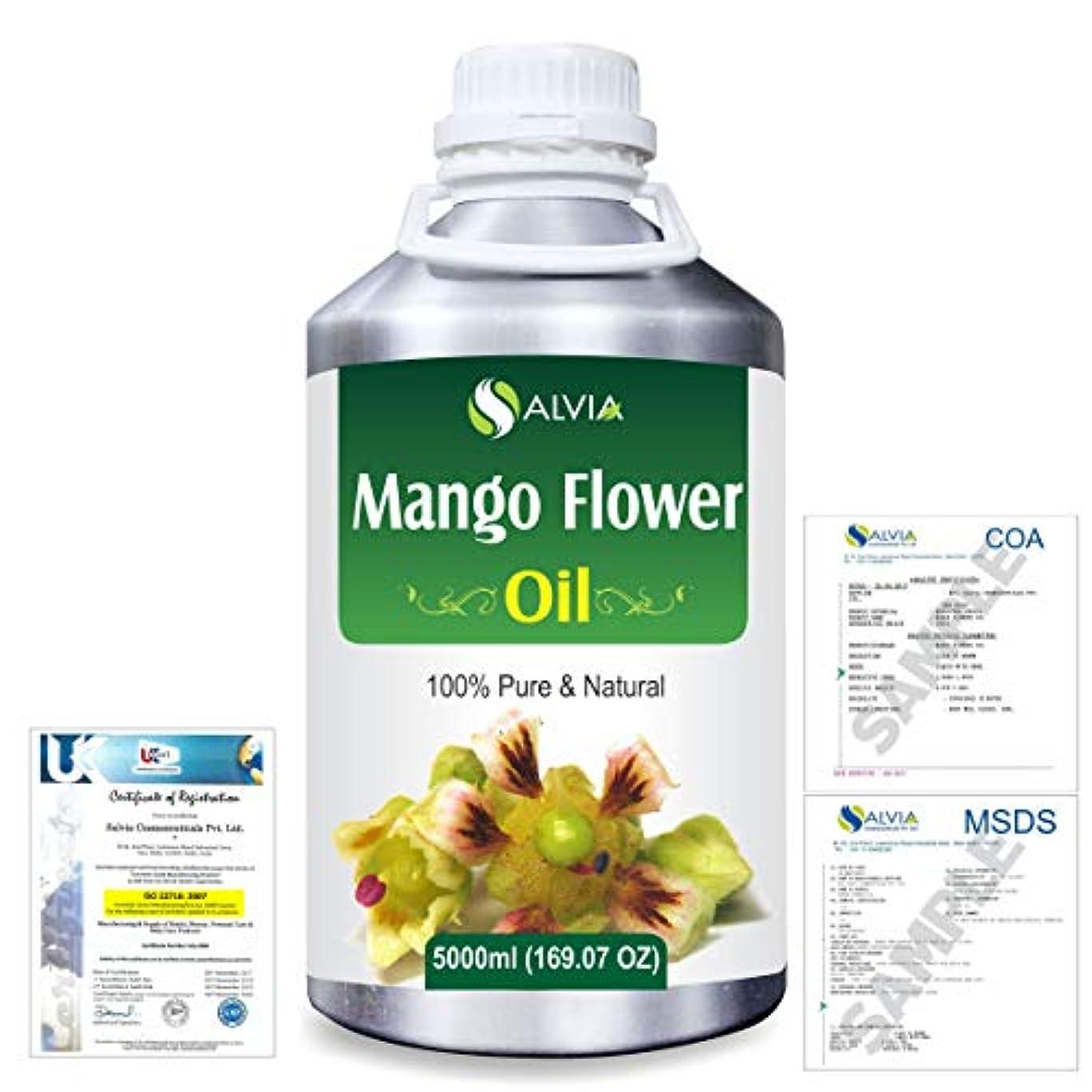 通路ちらつきリーフレットMango Flowers (Mangifera indica) 100% Natural Pure Essential Oil 5000ml/169fl.oz.