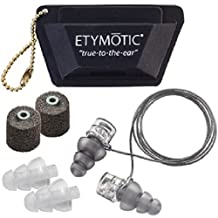 Etymotic High-Def Motorsport Earplugs, Designed to Fit Under Helmets, Universal Fit Package