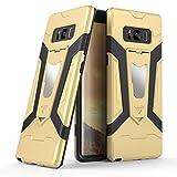 Galaxy Note 8ケース, Ranyi [ 3Piece Full Body Armor ] [組み込みキックスタンド] [衝撃吸収]ラグジュアリーメタルテクスチャ丈夫なゴム360保護3in 1ケースのSamsung Galaxy Note 8( 2017) ゴールド Ranyi-2033340