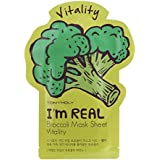 (6 Pack) TONYMOLY I'm Real Broccoli Mask Sheet Vitality (並行輸入品)
