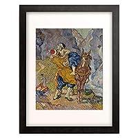 フィンセント・ファン・ゴッホ Vincent Willem van Gogh 「The Good Samaritan (after Delacroix). 1890」 額装アート作品
