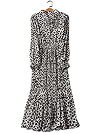 64326dde48de4 Amazon.co.jp  ホワイト - ワンピース・チュニック   ワンピース・ドレス ...