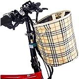 自転車カゴ 前 バスケット 折り畳み 脱着 バッグ 小径車に最適