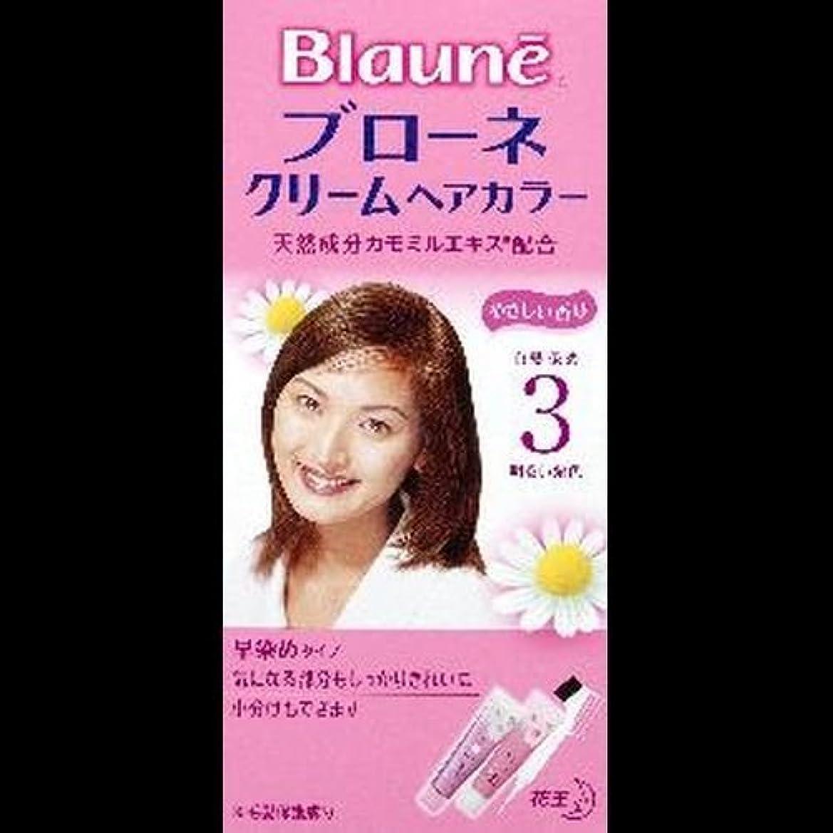 寄付温室人類【まとめ買い】ブローネクリームヘアカラー 3 明るい栗色 ×2セット