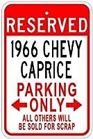 1966年66Chevy Capriceアルミニウム駐車場サイン 10 x 14 Inches CAR1001-00210