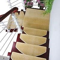 カーペット 11ミリメートル厚いステップカーペット屋内洗える滑り止めラグ階段トレッド、ドラゴン骨折側とマジックバックル底階段マット (色 : Set of 13, サイズ さいず : 100×24+3cm)