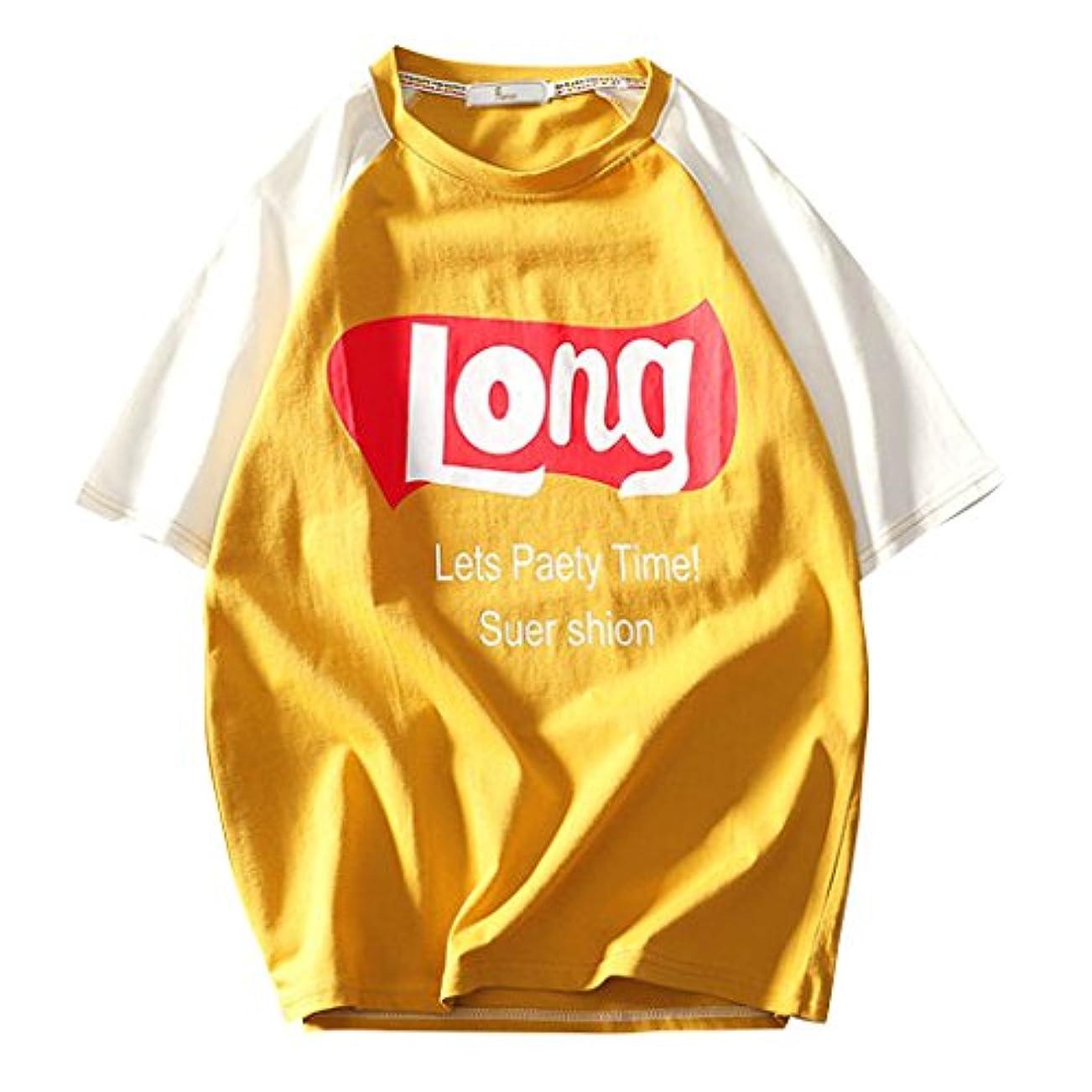 ソロ自明支援SemiAugust(セミオーガスト)メンズ 半袖 Tシャツ スウェット カジュアル カットソー ストリート ユニセックス ロゴ シャツ アウトドア 夏 男女兼用