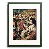 ピーテル・ブリューゲル(父) Pieter Bruegel (Brueghel) de Oude 「The Feast of St. Martin」 額装アート作品