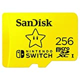 SanDisk Nintendo Switch MicroSDXC Card, 100MB/s, 256GB, Yellow