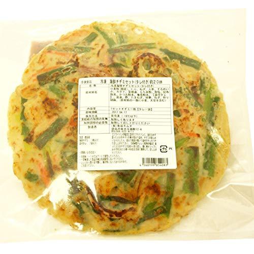 魚谷キムチ 海鮮チヂミセット (辛口タレ付き) 250g 1枚  2パック