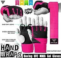 wyox LadiesトレーニングボクシングInner Gloves Gel Hand Wraps MMA Fistプロテクター包帯