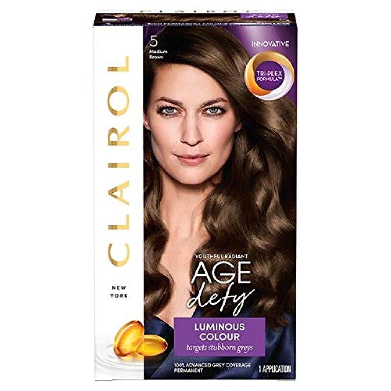 不利謙虚なフレキシブル[Nice'n Easy] クレイロール素敵な「N簡単年齢はミディアムブラウン染毛剤5を挑みます - Clairol Nice 'N Easy Age Defying Medium Brown Hair Dye 5 [並行輸入品]