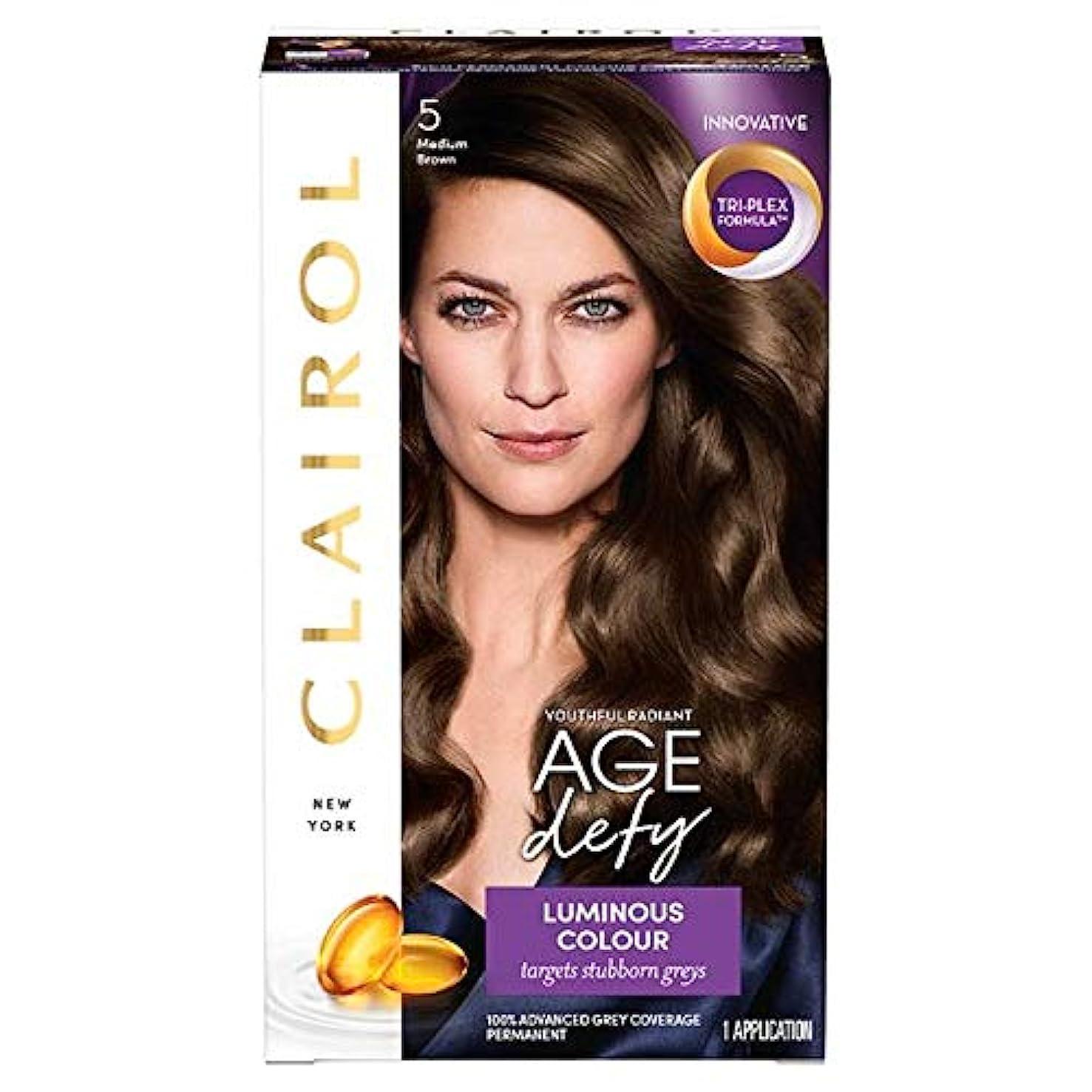 望みベーコン宿泊施設[Nice'n Easy] クレイロール素敵な「N簡単年齢はミディアムブラウン染毛剤5を挑みます - Clairol Nice 'N Easy Age Defying Medium Brown Hair Dye 5 [並行輸入品]