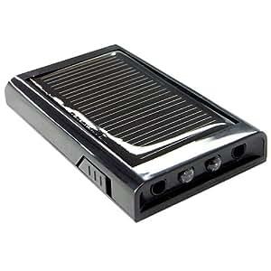 サムライン(SAMURAING) ChaCo LEDライト付き 携帯用ソーラーマルチ充電器 【ニンテンドーDS・PSP・iPhone・iPad・iPod対応】 ブラック SC-100(B)