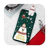 iPhone 11 Pro XS Max X 7 8 6 6 sクリスマス漫画鹿ケースiphone 7 8 6 S 6 sプラス7プラスシリコンマットカバーケースベア-3-iPhone X XSの場合