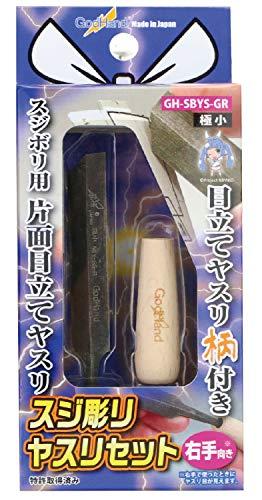 ゴッドハンド スジ彫りヤスリセット 極小 右手向き プラモデル用工具 GH-SBYS-GR