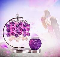 Led テーブルランプ ベッドサイドランプ スマートSeven Nightvalentine'S Day Giftrose Scented Creative Gift Plug-In Bedroom Bedside Lamp