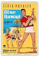 ブルーハワイでエルビス・プレスリー - ビンテージなフィルム映画のポスター によって作成された ロルフ・ゲッツェ c.1961 - アートポスター - 33cm x 48cm