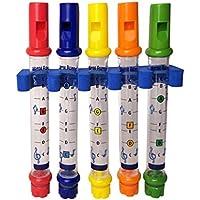Blesiya 全5本 子供/幼児 早期 発達おもちゃ クリスマス 贈り物 楽器 水フルート おもちゃ