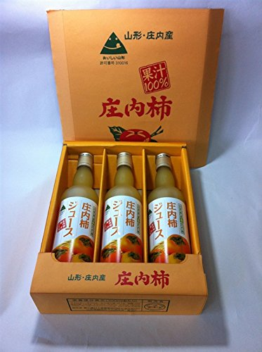 JA全農山形 庄内柿ジュース 550ml×3本