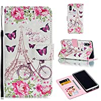 Abtory Wallet Case for Xiaomi Redmi S2,Protective Case with Credit Card Slot Holder Flip Folio Soft PU Leather Magnetic Closure Cover for Xiaomi Redmi S2 Butterfly