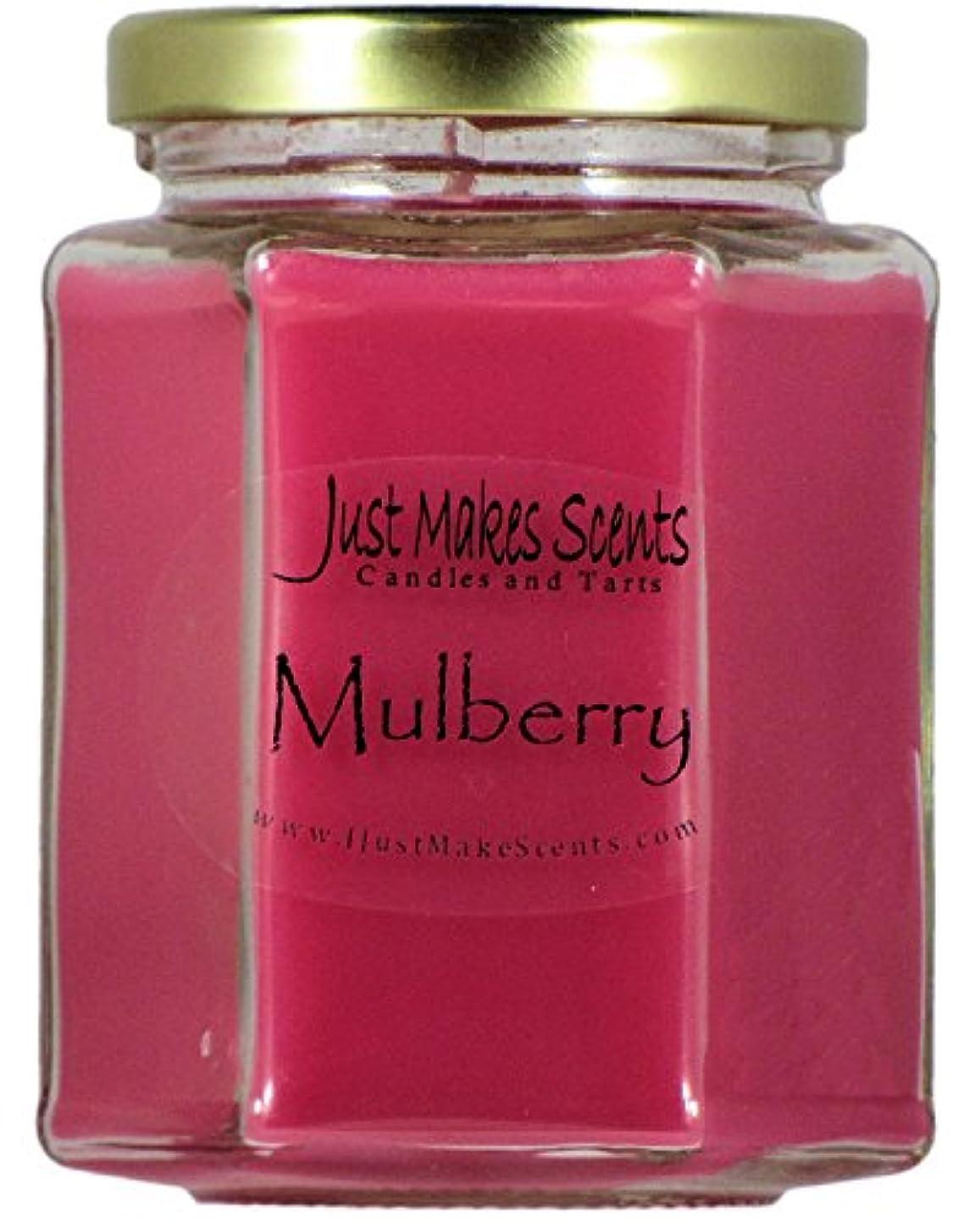 熱心引き潮理由Mulberry香りつきBlended Soy Candle by Just Makes Scents