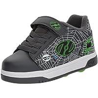 Heelys Kids' Dual up X2 Sneaker, Grey/Lime/Webs, Size 6 M US Little Kid US