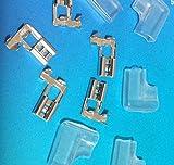 L字 平型 端子 & 絶縁 スリーブ 各 50個セット/ 配線 作業等 に
