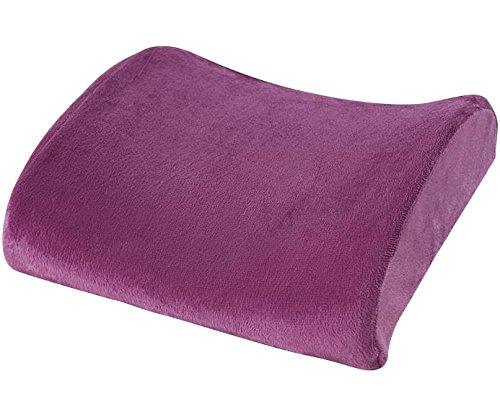 [ケンコバハンズ]低反発 ランバーサポートクッション 腰痛クッション 腰まくら 腰枕 腰痛 クッション 腰痛対策 ランバーサポート旅行枕 (パープル)