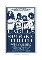 生砂糖アートスタジオイーグルス/不気味な歯 1973 アクロン コンサートポスター