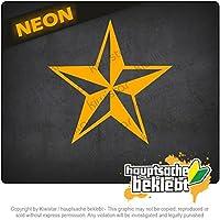 航海星 Nautical star 10cm x 10cm 15色 - ネオン+クロム! ステッカービニールオートバイ
