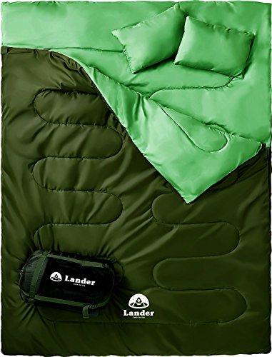 Lander(ランダー) 寝袋 2人用 封筒型 丸洗い 連結可能 最低使用温...