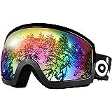 ODOLAND スキーゴーグル メガネ対応 耐衝撃 防塵 防風 防雪 広視野提供 男女兼用 子供·青少年·大人仕様選択可