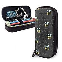ペンケース 黄色の大蜂 筆箱 財布 ファスナー付き 収納可能 多機能 持ち運びに便利 学生 男女兼用 化粧ポーチ