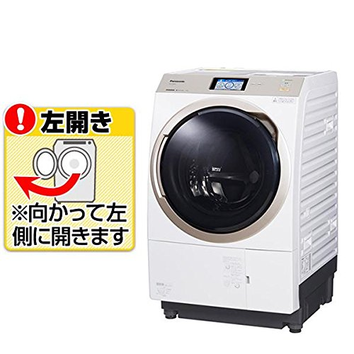 パナソニック 11.0kg ドラム式洗濯乾燥機【左開き】クリスタルホワイトPanasonic エコナビ 温水泡洗浄 NA-VX9800L-W