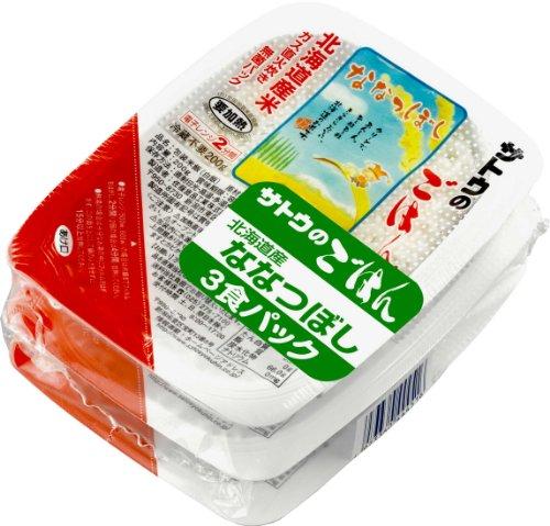 サトウのごはん 北海道産ななつぼし3食パック(200g×3P)×12個